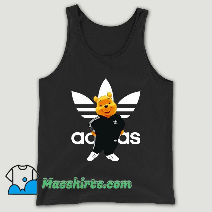 Winnie Pooh Adidas Parody Unisex Tank Top