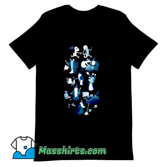A Flat Full Of Wizards T Shirt Design