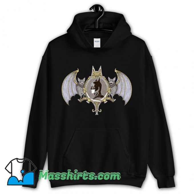 Funny Cartoon Bat Crest Hoodie Streetwear