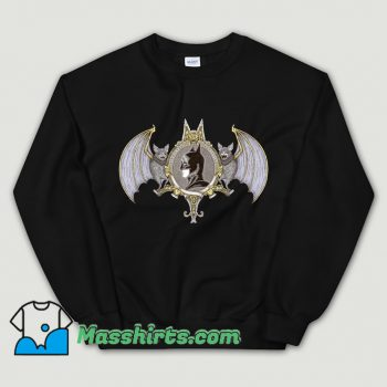 Cartoon Bat Crest Sweatshirt
