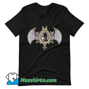 Official Cartoon Bat Crest T Shirt Design