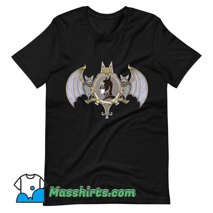 Official Cartoon Bat Crest T Shirt Design