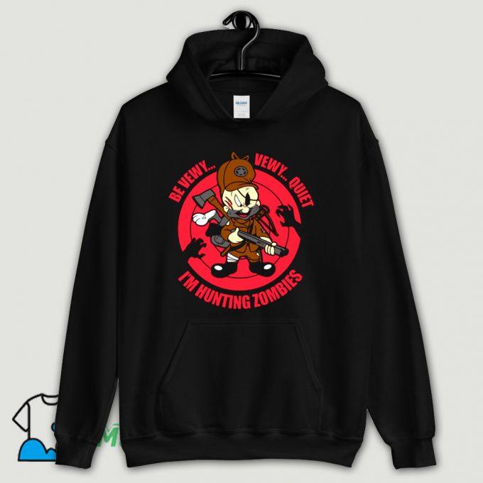 Be Vewy Quiet I Am Hunting Zombies Hoodie Streetwear