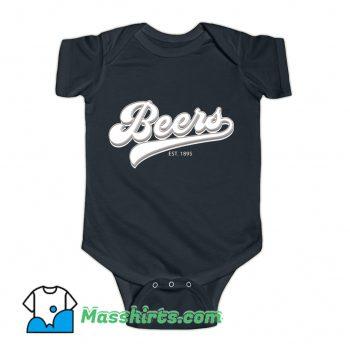Official Drink Beers EST 1895 Baby Onesie