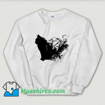 Cute Black Cat Aura Sweatshirt