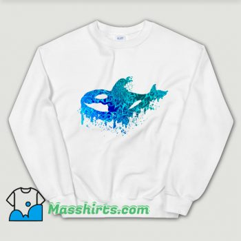 Official Blue Floral Orca Sweatshirt