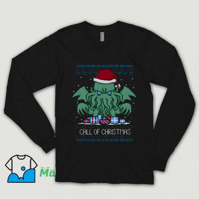 Call Of Christmas Ugly Christmas Shirt On Sale