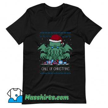 Call Of Christmas Ugly Christmas T Shirt Design
