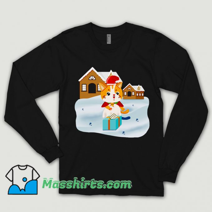 Christmas Night Cute Cat Shirt