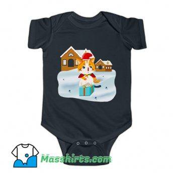 Christmas Night Cute Cat Baby Onesies