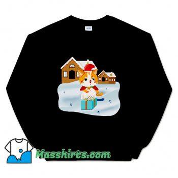 Christmas Night Cute Cat Sweatshirt
