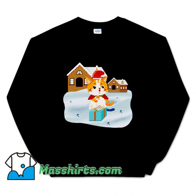Christmas Night Cute Cat Sweatshirt
