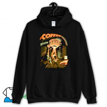 Classic Coffee Invasion Hoodie Streetwear