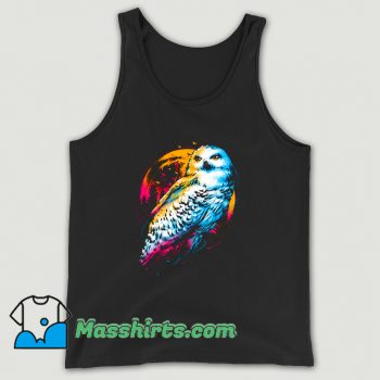 Vintage Animal Colorful Owl Tank Top
