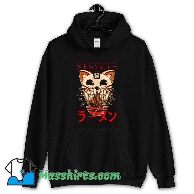 Ghostly Cat and Ramen Hoodie Streetwear