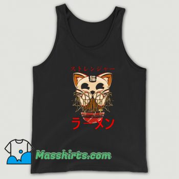 Ghostly Cat and Ramen Tank Top