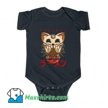 Ghostly Cat and Ramen Baby Onesie