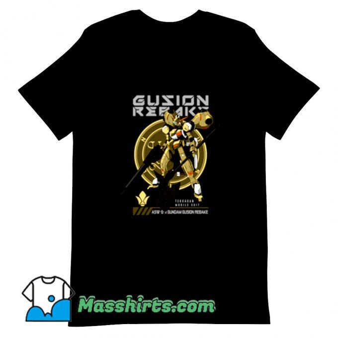 Vintage Gundam Gusion Rebake T Shirt Design