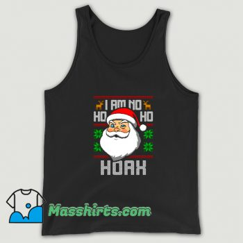 Classic I Am No Ho Ho Hoax Ugly Christmas Tank Top