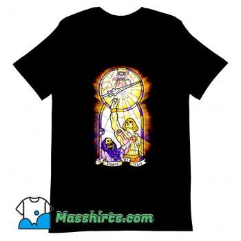 Comic In Power We Trust T Shirt Design