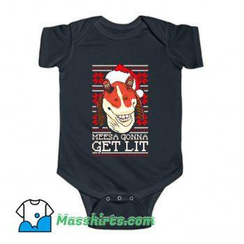 Official Jar Jar Christmas Baby Onesie