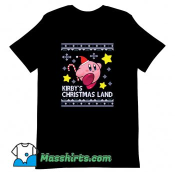 Kirby Christmas Land Knit T Shirt Design