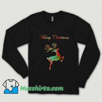 Merry Christmas Reindeer Silhouette Shirt