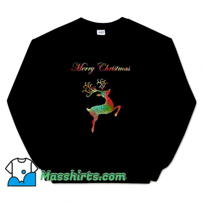 Merry Christmas Reindeer Silhouette Sweatshirt