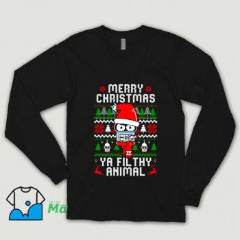 Funny Merry Christmas Ya Filthy Animal Shirt