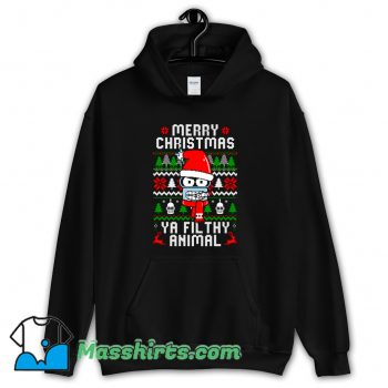 Cheap Merry Christmas Ya Filthy Animal Hoodie Streetwear