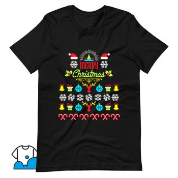 Merry Christmas Ugly Sweater T Shirt Design