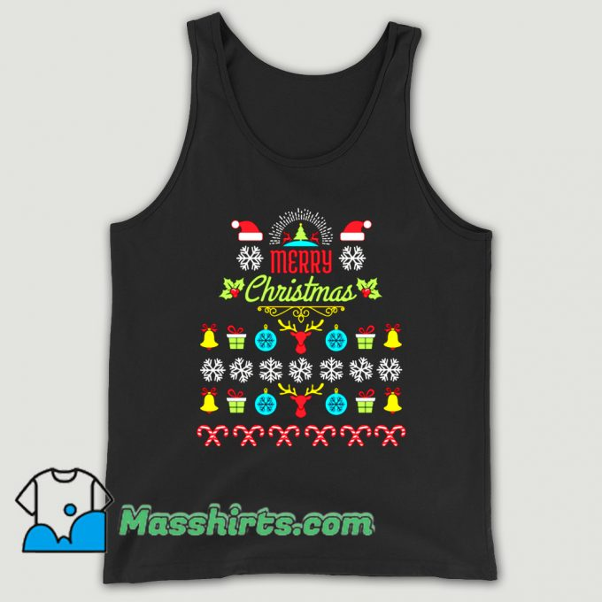 Awesome Merry Christmas Ugly Sweater Tank Top