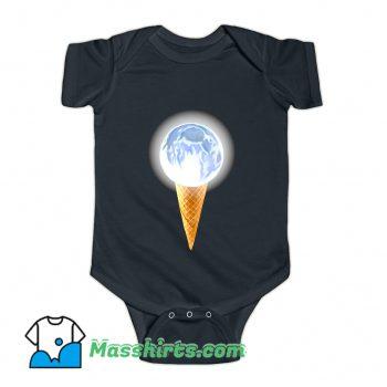 Moon Scoop Icecream Cone Baby Onesie