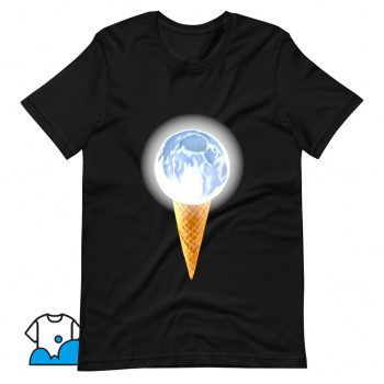 Moon Scoop Icecream Cone T Shirt Design