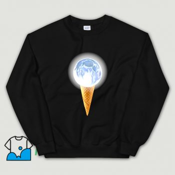 Cheap Moon Scoop Icecream Cone Sweatshirt