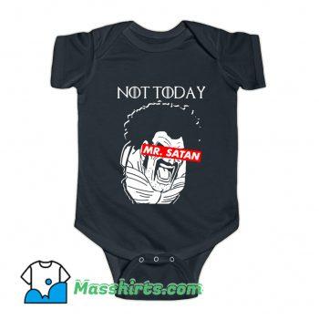 Not Today Mr. Satan Baby Onesie