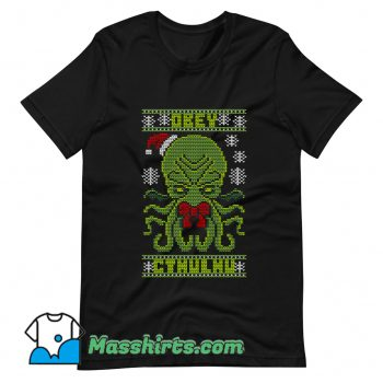 Obey Cthulhu Sweater Ugly Christmas T Shirt Design