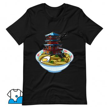 Vintage Ramen Temple T Shirt Design