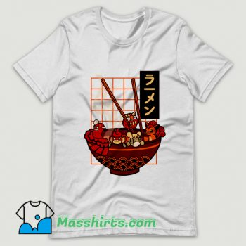 Funny Red Ramen T Shirt Design