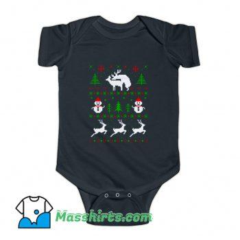 Romantic Reindeers Baby Onesie