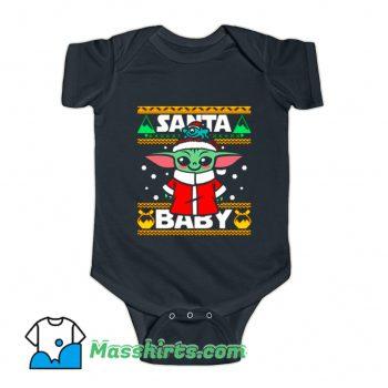 Santa Baby Yoda Baby Onesie
