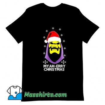 Skeletor Myah Merry Christmas T Shirt Design