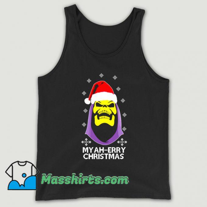 Cool Skeletor Myah Merry Christmas Tank Top