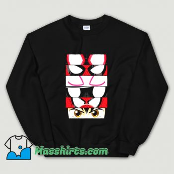 Cartoon Spider Verse Eyes Sweatshirt