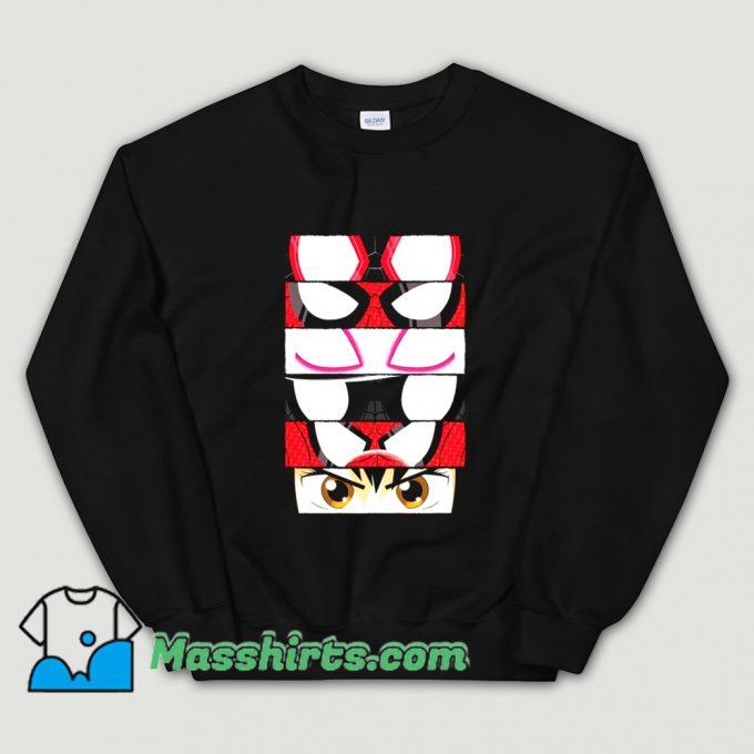 Cartoon Spider Verse Eyes Sweatshirt