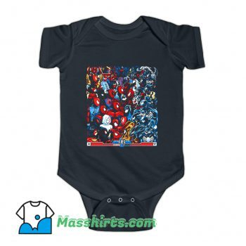 Spiders VS Symbiotes Baby Onesie