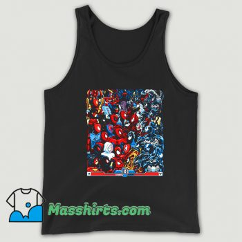 Comic Cartoon Spiders VS Symbiotes Tank Top