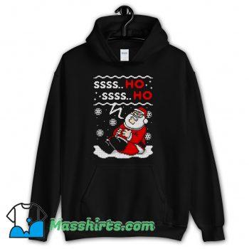 Ssss Ho Santa Claus Ugly Christmas Sweater Hoodie Streetwear