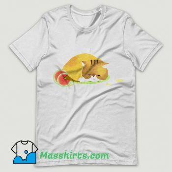 Summer Heat Watermelon Cat T Shirt Design