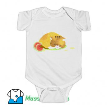 Summer Heat Watermelon Cat Baby Onesie